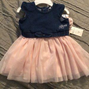Guess Kids blue jean tulle dress 6-9 months